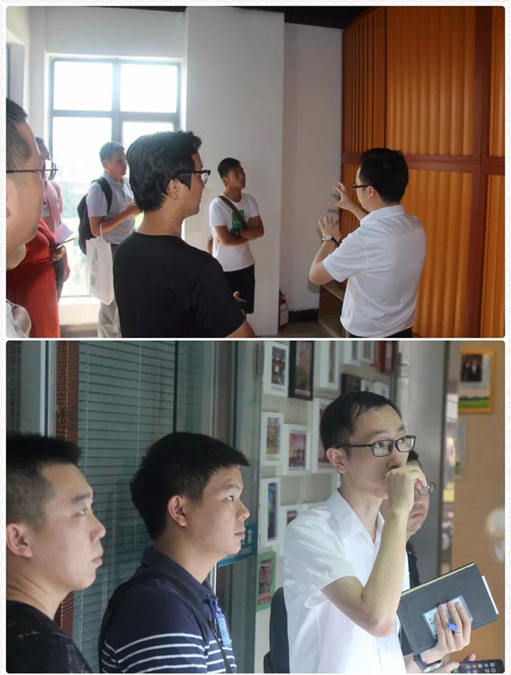 学员们参加天戈展厅