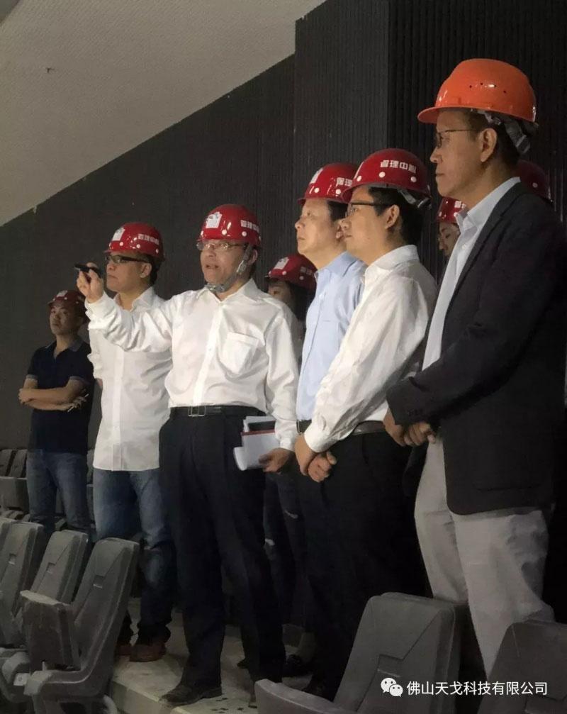 佛山市市长朱伟到访佛山国际体育文化演艺馆
