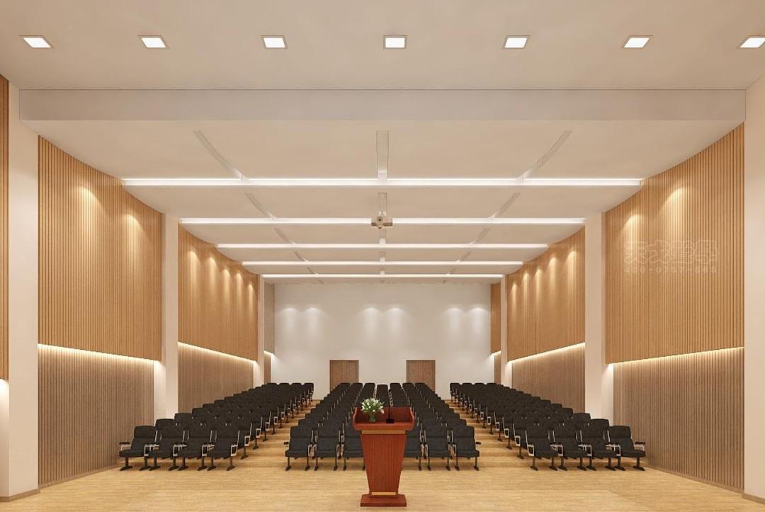 湖南株洲第一中学多功能报告厅声学设计