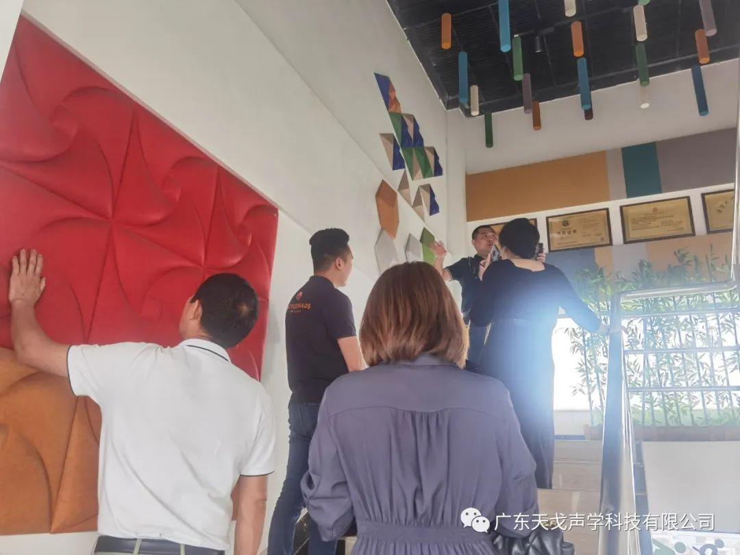 欢迎广东省建筑装饰设计行业协会兰芳会长一行人莅临天戈指导工作-4