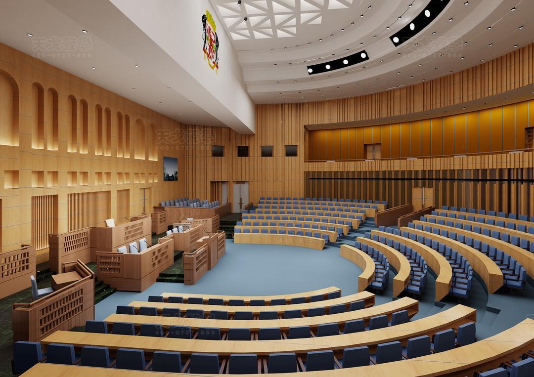 刚果布议会大厦会议厅-1