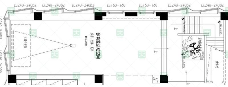 深圳中广核多功能会议厅平面图